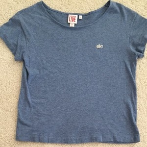 Lacoste T Shirt Denim Blue
