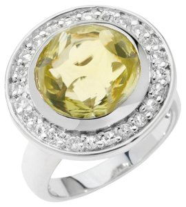 Other 7.3ct Apple Quartz Sterling Ring - Size 7