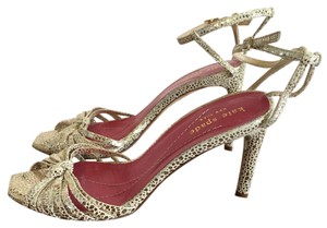 Kate Spade Suede Party Heels Gold Sandals