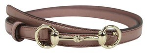 Gucci New Gucci Pink Leather Skinny Belt Horsebit Buckle 100/40 282349 6812