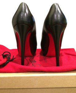 Christian Louboutin Leather Red Soles BLACK Pumps