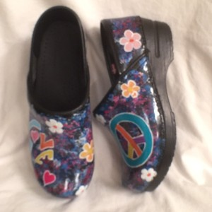 Sanita Dansko Flowers Piece Black Multi Mules