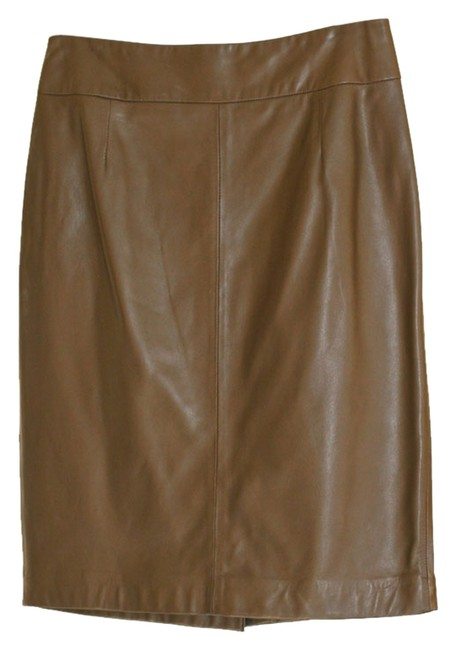 Preload https://item2.tradesy.com/images/anne-klein-brown-chocolate-leather-pencil-knee-length-skirt-size-4-s-27-1814061-0-0.jpg?width=400&height=650