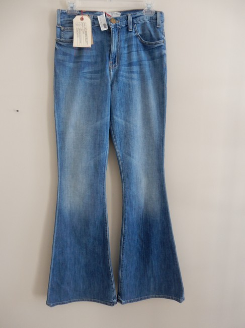 """Item - Canteen Blue Medium Wash Style # 1069-0147 """"Wear For Love/Love For Wear"""" Flare Leg Jeans Size 28 (4, S)"""