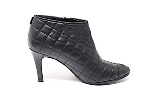 Chanel Quilted Classic Black Boots