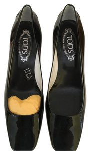 Tod's Black Patent Wedges