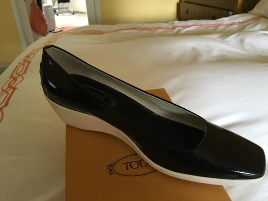 Tod's Black Patent Wedges Image 5