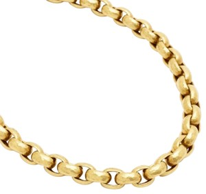 Paloma Picasso Tiffany & Co, Paloma Picasso 18K Hammered Gold link necklace