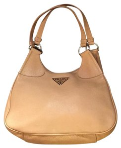 Prada Satchel in Tan & Silver