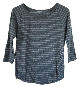 Gap Gray Longsleeve Striped Top Gray, Silver