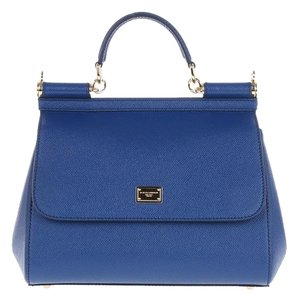 Dolce&Gabbana Dolce & Gabbana Leather Satchel in Marine Blue
