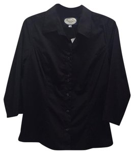 Rebecca & Drew Button Down Shirt Black