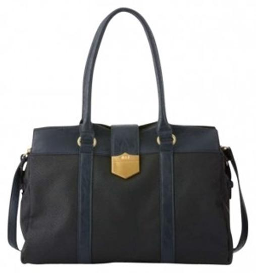 Preload https://item2.tradesy.com/images/romeo-and-juliet-couture-karalyn-black-and-navy-embossed-faux-leather-tote-181426-0-0.jpg?width=440&height=440