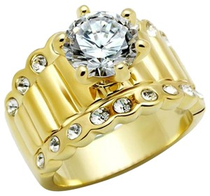 Engagement Brass Ion Plating Top Grade Women Ring