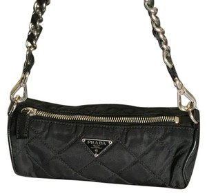 Prada Wristlet in Black & Silver