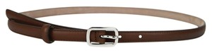 Gucci New Gucci Leather Skinny Belt Silver Buckle Size 85/34 354659 2548