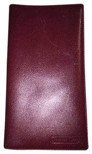 Christian Dior Christian Dior oxblood red CALFSKIN flap wallet / checkbook cover made in SPAIN