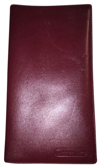Preload https://item1.tradesy.com/images/dior-oxblood-christian-red-calfskin-flap-checkbook-cover-made-in-spain-wallet-1814355-0-0.jpg?width=440&height=440