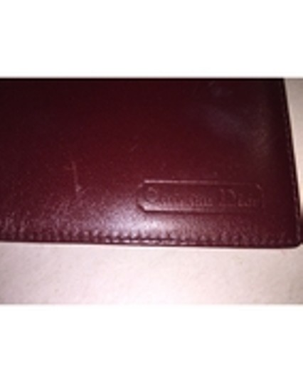 Dior Christian Dior oxblood red CALFSKIN flap wallet / checkbook cover made in SPAIN Image 3