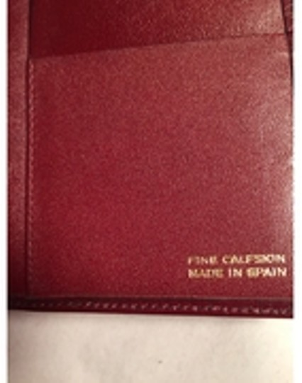 Dior Christian Dior oxblood red CALFSKIN flap wallet / checkbook cover made in SPAIN Image 6
