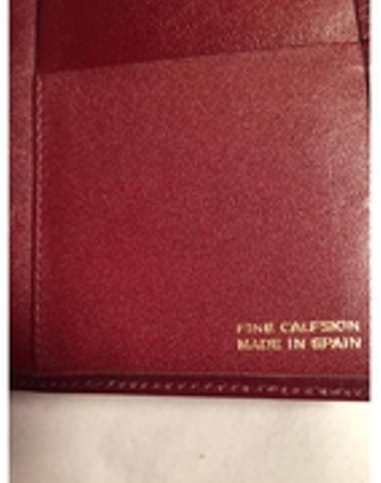 b7c6ce93bb53d3 Dior Oxblood Christian Red Calfskin Flap / Checkbook Cover Made In Spain  Wallet - Tradesy