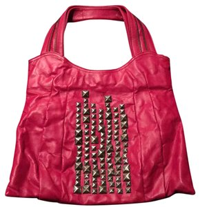 Matt & Nat & Faux Leather Studded Large Tote in Pink