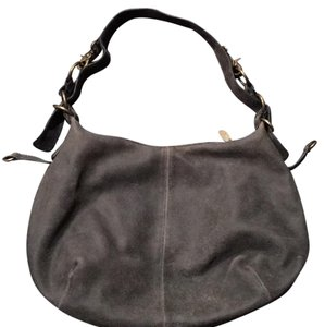 Gianni Bini Suede Distressed Hobo Bag