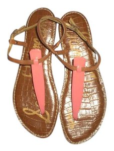 Sam Edelman coral/brown Sandals