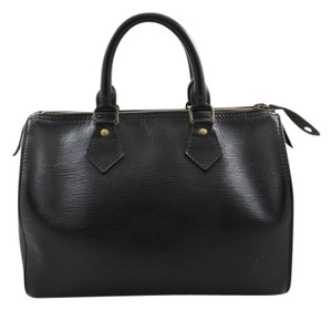 Louis Vuitton Speedy 25 Satchel in Black