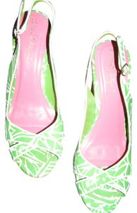 Lilly Pulitzer P. Wedge GREEN Sandals