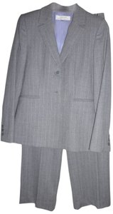 Tahari Author S. Levine Grey and pink pin stripe pant suit