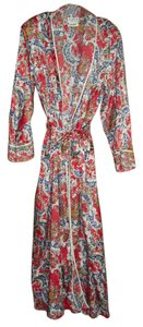 red blue beige Maxi Dress by Mary McFadden