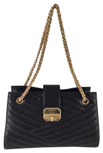 Chanel Coco Tote Chevron Shoulder Bag
