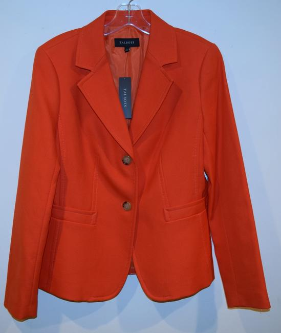 Talbots orange Blazer Image 1