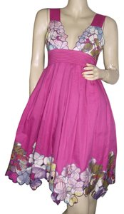 Catherine Malandrino short dress rose pink on Tradesy