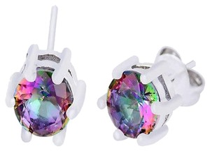 rainbow zircon studs earrings
