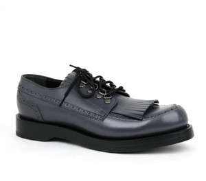Gucci Mens Leather Fringed Brogue Lace-up Size 10 / Us 11 358271 1107