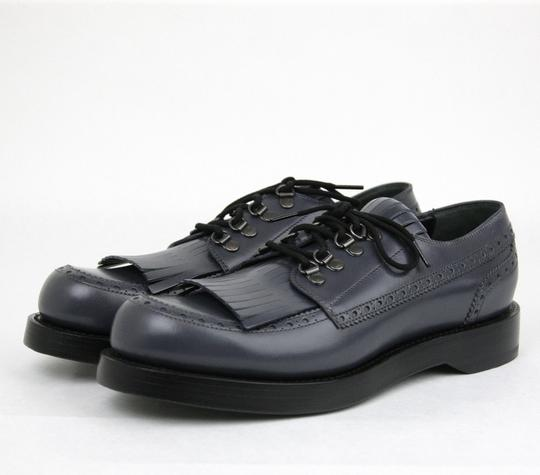 fad2b408e98 ... Gucci Bluish Gray Mens Leather Fringed Brogue Lace-up Size 11   Us 12  358271