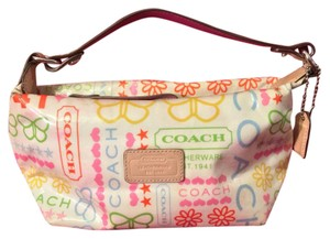 Coach Satchel in White Base Coloful Writing