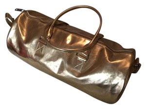 Marc Jacobs Metallic Duffel Weekender Gold Travel Bag