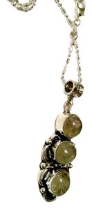 Rutilated Quartz Set 925 Silver Pendant Necklace 20 Inch Chain J664