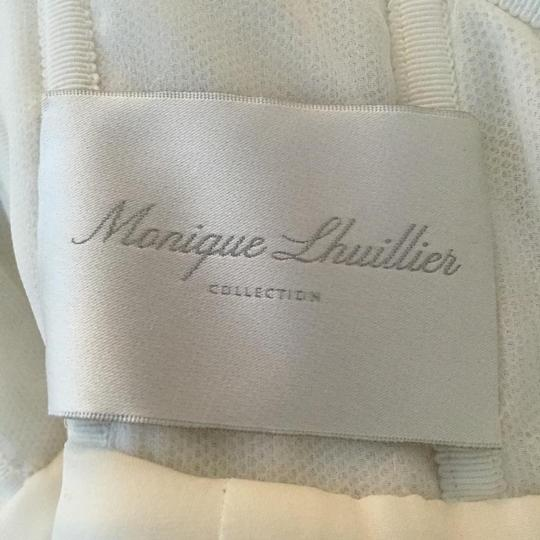 Monique Lhuillier Ivory Embroidered Tulle and Chantilly Lace Adele Gown Formal Wedding Dress Size 6 (S) Image 5