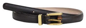 Gucci Brown Thin Leather Belt