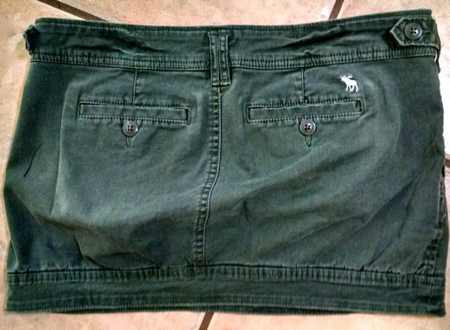 Abercrombie & Fitch Size 2 Short P1179 Mini Skirt Olive Green Image 2
