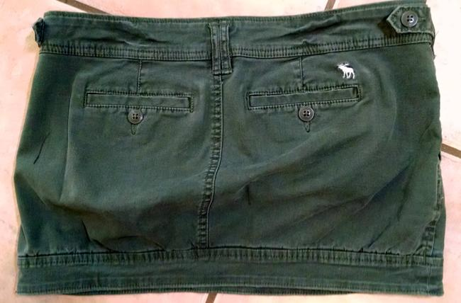 Abercrombie & Fitch Size 2 Short P1179 Mini Skirt Olive Green Image 3