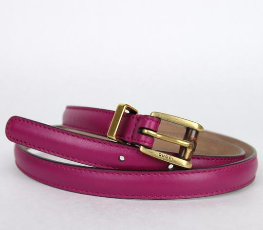 c5d9389597a Gucci New Authentic Gucci Women Belt w Bamboo Buckle Size 85 34 339065 5523