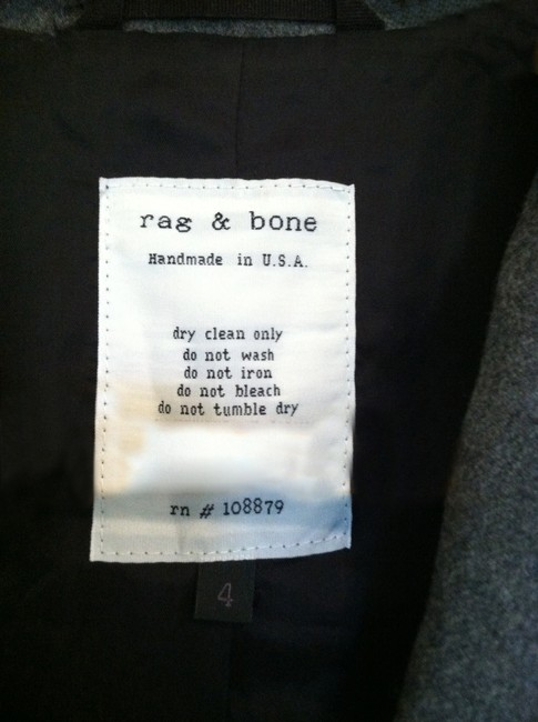 Rag & Bone charcoal grey/blk Blazer