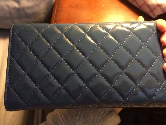 Chanel Chanel Blue Patent Long Wallet