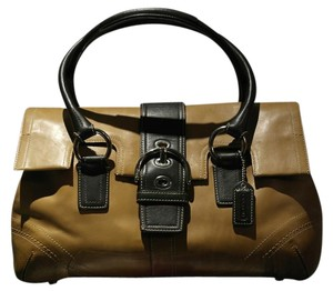 Coach Vintage Leather Classic Satchel in British Tan w/ Dark Mocha trim