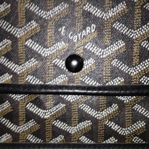 Goyard Wallet Tote Wallet Wristlet in black and brown